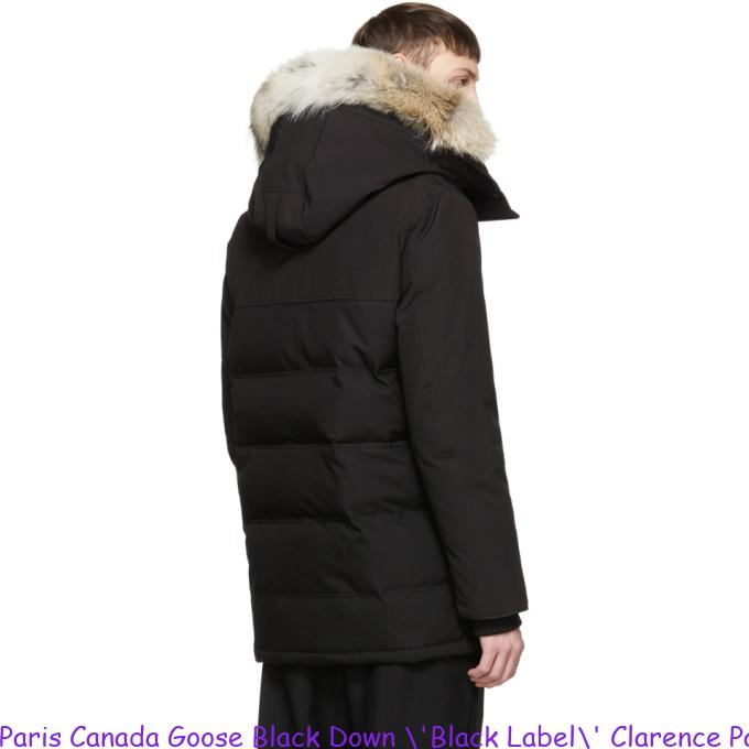 on sale 503cf 5ed2a Paris Canada Goose Black Down \'Black Label\' Clarence Parka Canada Goose  Ladies Uk 2088307