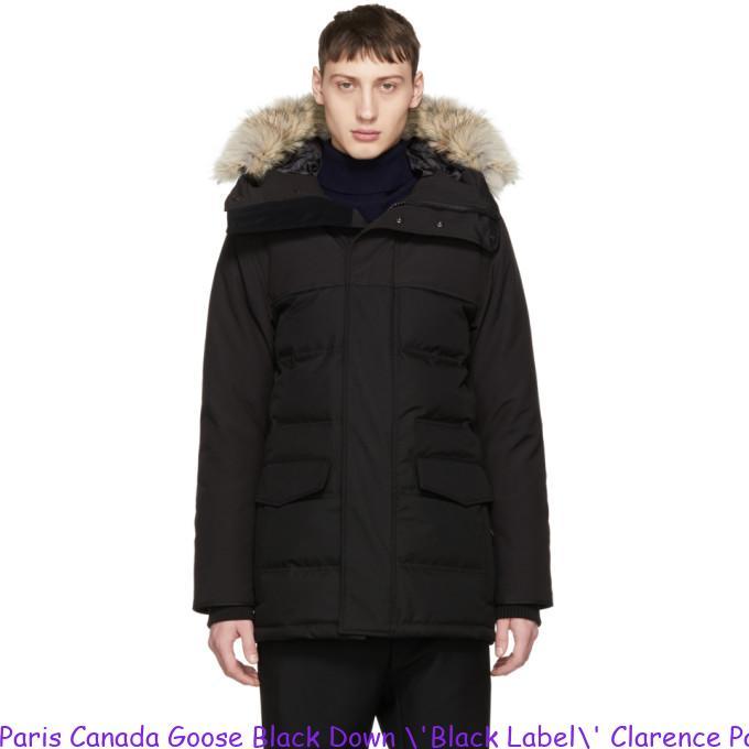 Paris Canada Goose Black Down \'Black Label\' Clarence